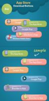 Free psd App Store Download Buttons by NODY4DESIGN