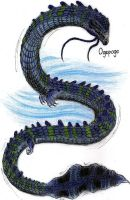 Cryptids - Ogopogo by MonsterKingOfKarmen