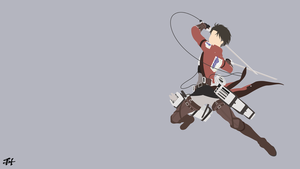 Levi Ackerman (AoT) Minimalist Wallpaper by slezzy7
