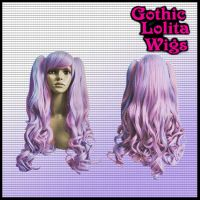 Blended Pink and Lavender Wig by GothicLolitaWigs