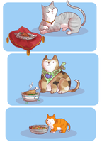 Cat's Breakfast by springonion