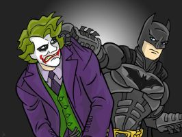 Batman and Joker... by Iddle-Diddle