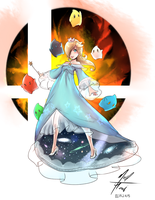 Rosalina and the crew by NoHoodle