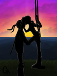 TMNT-Silhouettes in the Sunset by FlashyFashionFraud