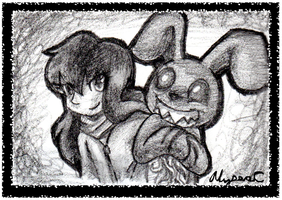 Coms:The Girl and her Bunny by AlyssaC-12