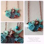 Bluebird's Garden Necklace by GingerKellyStudio