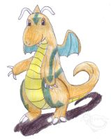 Puff the Dragonite by WorldSerpent