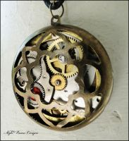 Circle Steampunk Pendant by HouseOfAlletz