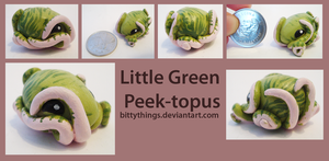 Little Green Peek-topus - SOLD by Bittythings