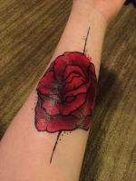 Rose (fake) Tattoo by cantalo-upes
