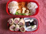 Mushroom land bento by CountessAudronasha