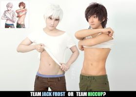 Jack Frost x Hiccup by liui-aquino
