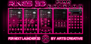 FREE Theme For Next Launcher 3D Rings Pink by ArtsCreativeGroup