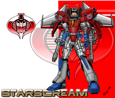 Starscream, Cyborg by skywarp-2