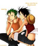 Zoro and Luffy by DarkSahdow