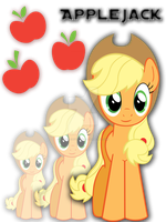 Applejack T-Shirt Design by iamthemanwithglasses