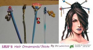 LuLu's Hair Ornaments by witch13888