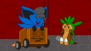 Doktor_Chespin's_lucky_bawks_hat_discovery.boink by RiuAuraeon
