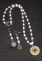 coin necklace and earrings set by PiratesGlory