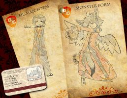 Monster academy application - Rucarius Izunari by glowy-colors-lova-8D