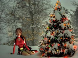 Lara Croft - The Christmas Tree by Roli29