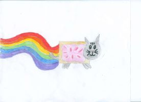 Nyan Cat by XoxPikachuxoX