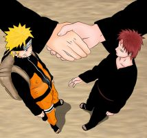 Naruto-Gaara_The beginning of a friendship by MimiSempai