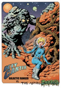 Kit Carter vs. The Astro Zombies Color by aaronlopresti