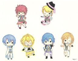 UtaPri Chibis by drawwithme15