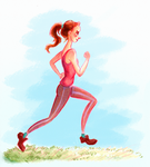 Running Girl by peculiarcohort