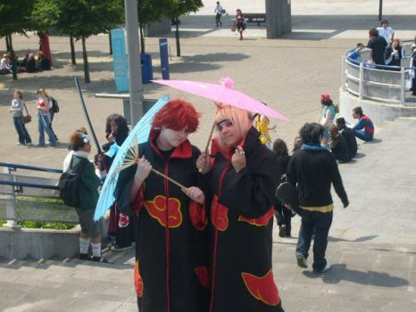 sasori and deidara cosplays by gothkatmature