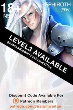 .NSFW Level3 Sephiroth Now Available by customhusbandos
