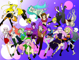 Vocaloid and Utau Cast by TalisMoon