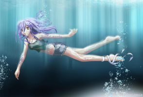 Underwater by Hitori-Sania