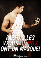 Les Heros ont un masque! by OpGraffiti