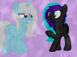 Me And Lillybug with Crystal Empire by RainbowBliztThePony