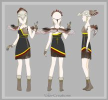 eagle dress concept by Vala-Creations