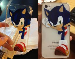 Sonic the Hedgehog iPhone Case by smeltlikesafety