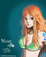 Just standing there - Nami by Darakrill