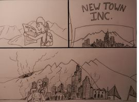 Welcome To New Town #1 by KingOfPigs101