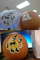 Bill Cipher Pumpkin by Lovely-red-one