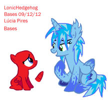 BlueFire and Somepony - Collab by LonicHedgehog