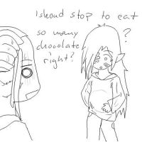 to many chocolate? by Mirey-chan