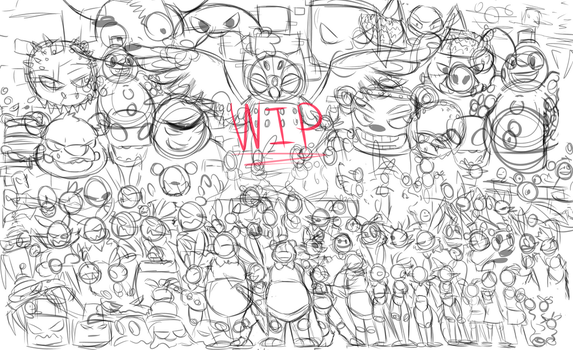 WIP Every FNaF Character by Dragonpopfruit