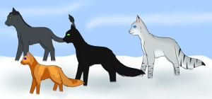 Patrol in the Snow by Squiggy13