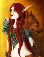 The Blood Elf - World of Warcraft by Luh-Dwolf