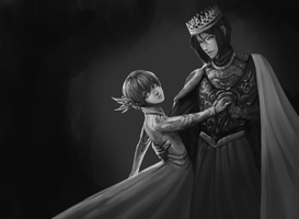 Elf Ciel and King Sebastian by Bkjeim