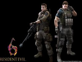 Chris and Piers ~ RE6 by Sparrow-Leon
