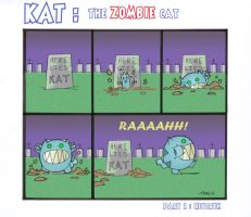 KAT : The Zombie Cat by tyrannus
