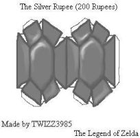 Silver Rupee Papercraft by Twizz3985